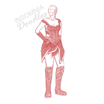 This is not finished yet, but it's a concept sketch for one of my DM's NPCs.